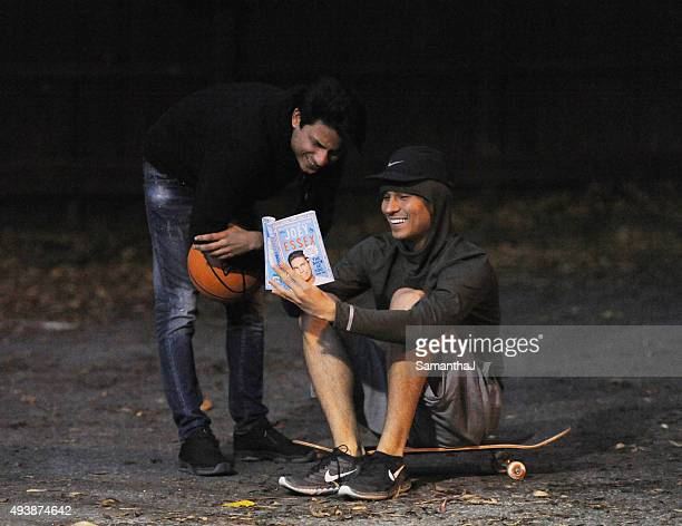Joey Essex is seen playing basketball and riding his skatebaord on October 22 2015 in Brentwood England