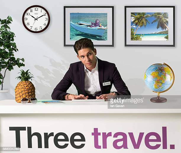 Joey Essex launches Three Mobile's Travel Agency where the nation's funniest holiday stories are rewarded with free holidays at Centre Stage Studios...