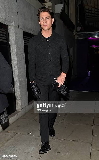 Joey Essex leaves the British Take Away Awards on November 9 2015 in London England