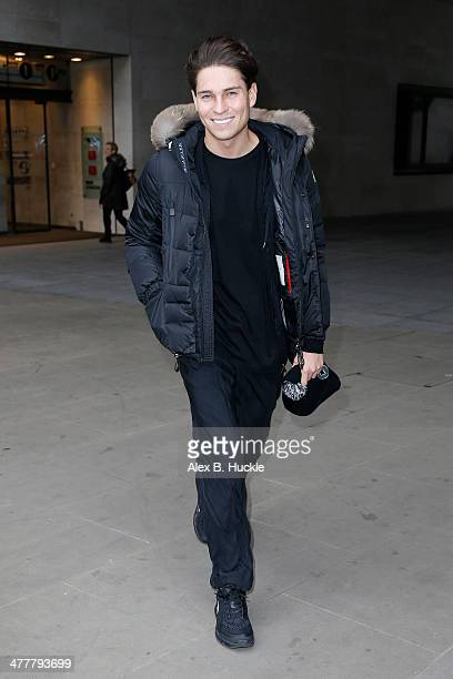 Joey Essex sighted leaving the BBC Radio 1 studios on March 11 2014 in London England