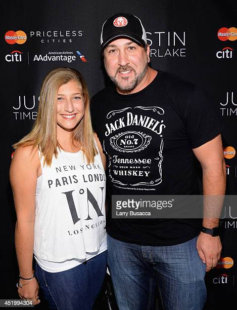 Joey Fatone and Briahna Joely Fatone attend an exclusive NYC performance with Citi / AAdvantage MasterCard Priceless Access at Hammerstein Ballroom...