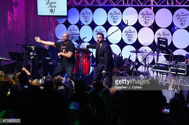 Joey Fatone and Darryl McDaniels performs during the Barnstable Brown Kentucky Derby Eve Gala at Barnstable Brown House on May 1 2015 in Louisville...