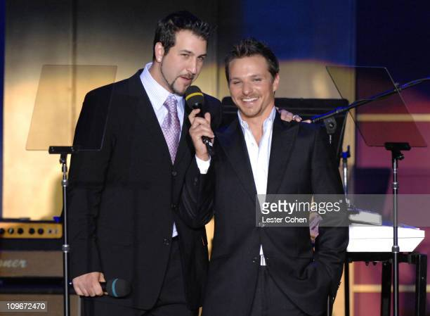 """Joey Fatone and Drew Lachey during 14th Annual Race to Erase MS Themed """"Dance to Erase MS"""" - Show at Hyatt Regency Century Plaza in Century City,..."""