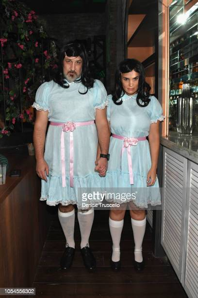 Joey Fatone and Izabel Araujo attend Casamigos Halloween party at CATCH Las Vegas at ARIA Resort Casino on October 27 2018 in Las Vegas Nevada