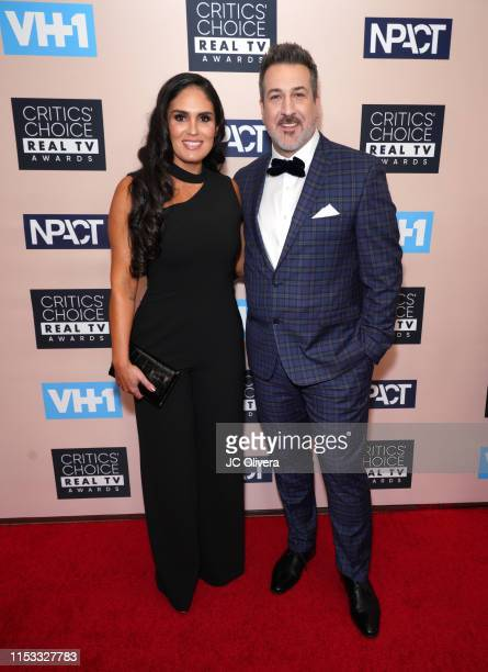 Joey Fatone and Izabel Araujo attend the Critics' Choice Real TV Awards on June 02 2019 in Beverly Hills California