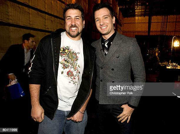 CULVER CITY CA MARCH 27 Joey Fatone And JC Chasez At The Live Finale Of Randy