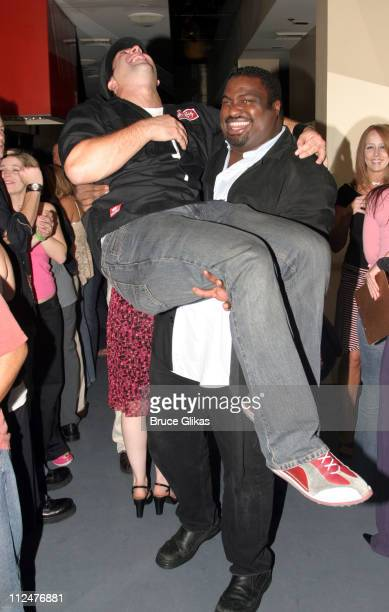 Joey Fatone and MichaelLeon Wooley during Joey Fatone Party in Honor of Little Shop of Horrors Closing Night Performance on Broadway at The Virginia...