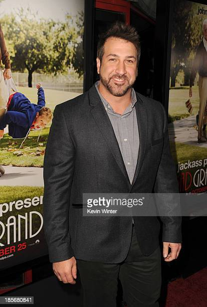 Joey Fatone arrives at the premiere of Paramount Pictures' Jackass Presents Bad Grandpa at TCL Chinese Theatre on October 23 2013 in Hollywood...