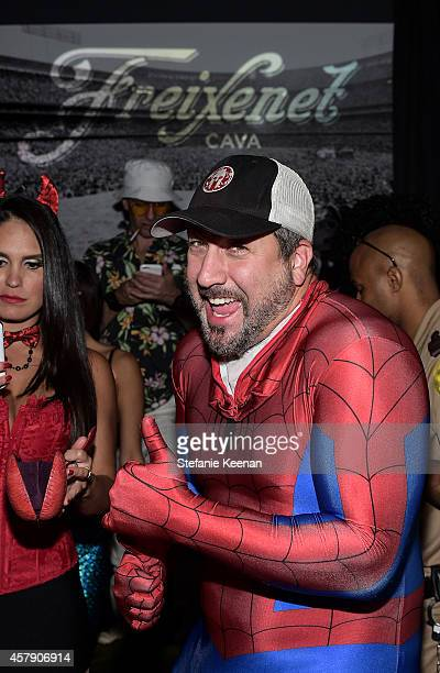 Joey Fatone attends Matthew Morrison's 5th Annual Halloween Party Presented By Freixenet at Hyde On Sunset on October 25, 2014 in Los Angeles,...