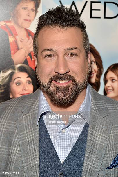 Joey Fatone attends My Big Fat Greek Wedding 2 New York Premiere at AMC Loews Lincoln Square 13 theater on March 15 2016 in New York City