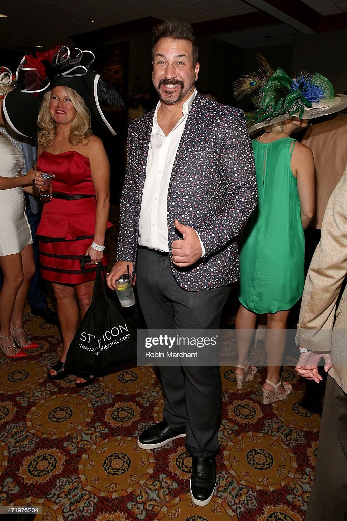 Joey Fatone attends the 141st Kentucky Derby at Churchill Downs on May 2, 2015 in Louisville, Kentucky.