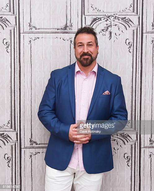 Joey Fatone attends the AOL Build Speaker Series to discuss My Big Fat Greek Wedding 2 at AOL Studios In New York on March 14 2016 in New York City