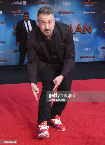 Joey Fatone attends the premiere of Sony Pictures' SpiderMan Far From Home at TCL Chinese Theatre on June 26 2019 in Hollywood California