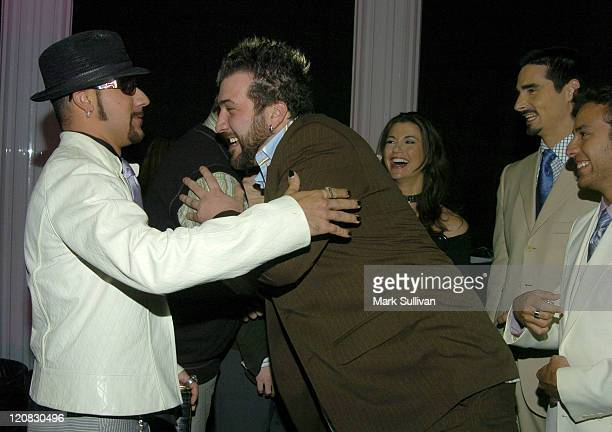 Joey Fatone crashes Backstreet Boys interview in Backstage Creations Talent Retreat at 2004 Motown 45 Special