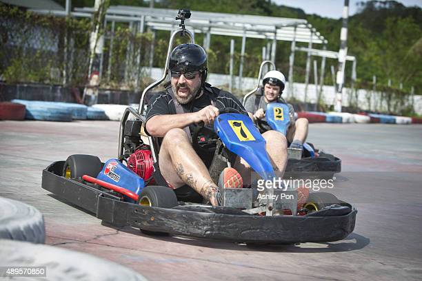 Joey Fatone drives a gokart Kenting on September 3 2015 in Hengchun Taiwan