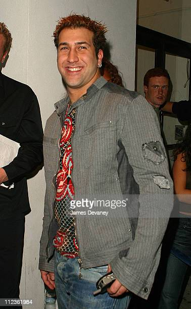 Joey Fatone during Boyz II Men album release party at Club Suede in New York City New York United States