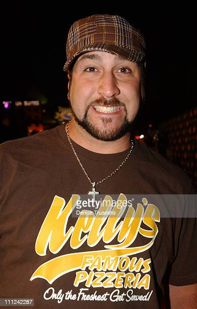 Joey Fatone during Hard Rock Hotel and Casino 10th Anniversary Weekend - Bon Jovi in Concert - Red Carpet Arrivals at The Hard Rock Hotel and Casino...