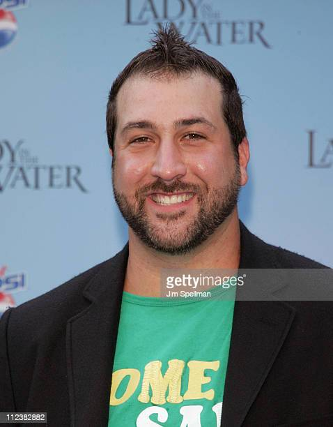 Joey Fatone during Lady in the Water New York Premiere Outside Arrivals at American Museum of Natural History in New York City New York United States