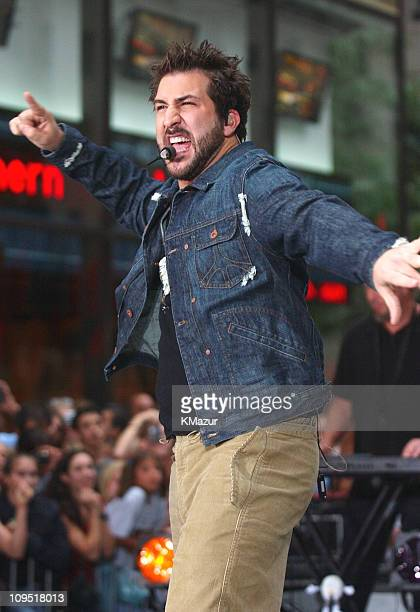 Joey Fatone during *NSYNC Performs on 'The Today Show' Summer Concert Series August 20 2001 at NBC Studios in New York City New York United States