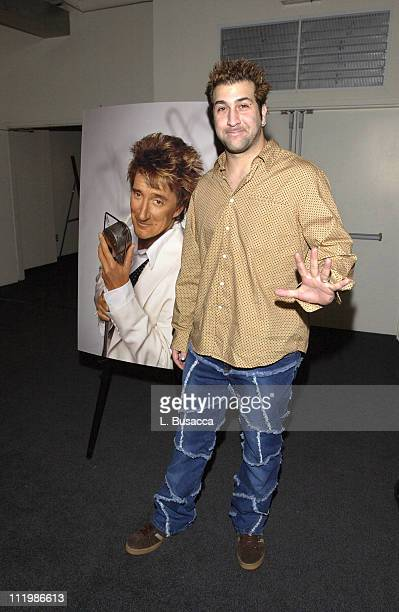 Joey Fatone during Rod Stewart Album Release Party Hosted by Clive Davis at Tribecca Rooftop in New York City New York United States