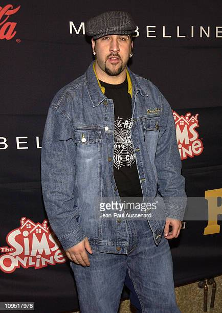 Joey Fatone during Teen People and Universal Records Honor Nelly as the 2002 Artist of the Year Arrivals at Ivar in Hollywood California United States