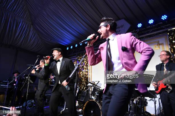 Joey Fatone Howie Dorough and Kevin Richardson performs at the Barnstable Brown Derby Eve Gala on May 03 2019 in Louisville Kentucky