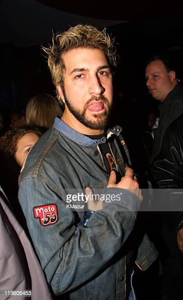 Joey Fatone of NSYNC during Emporio Armani GQ Dupont Registry and Derek Jeter Host Exclusive Super Bowl XXXV Bash at Rain Lounge in Tampa Florida...