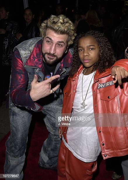 Joey Fatone of NSYNC Lil' Bow Wow during The 28th Annual American Music Awards Columbia Records After Party at Las Palmas in Hollywood California...