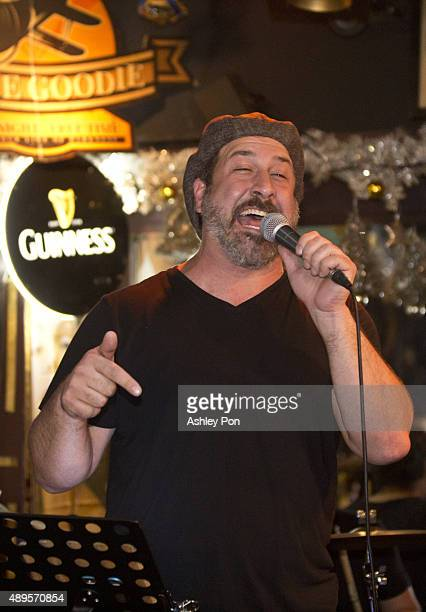 Joey Fatone performs at Oldie Goodie an Americana bar in the heart of Taipei on September 4 2015 in Taipei Taiwan