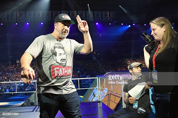 Joey Fatone speaks during Impractical Jokers Live Nitro Circus Spectacular at Prudential Center on November 3 2016 in Newark New Jersey JPG