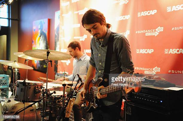 Joey Ficken and Eliot Lorango of Sea Wolf attend Day 4 of ASCAP Music Cafe at Sundance ASCAP Music Cafe during the 2013 Sundance Film Festival on...
