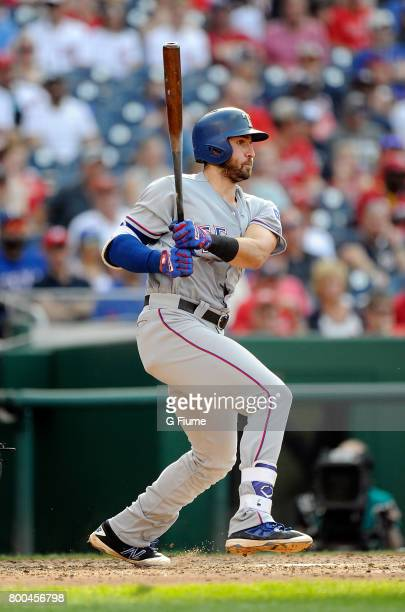 Joey Gallo of the Texas Rangers bats against the Washington Nationals at Nationals Park on June 11 2017 in Washington DC