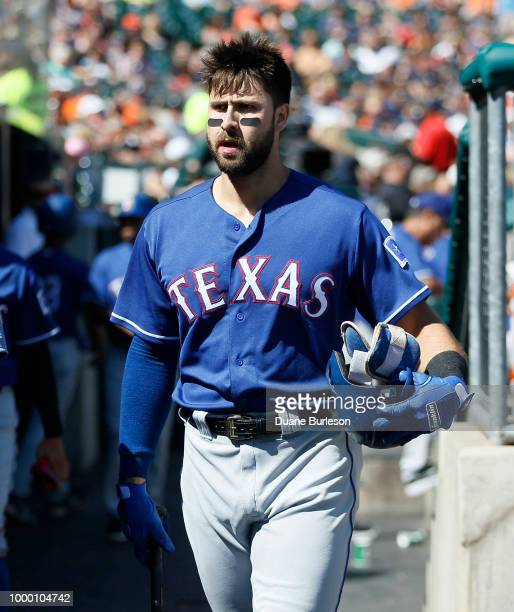 Joey Gallo of the Texas Rangers during a game against the Detroit Tigers at Comerica Park on July 7 2018 in Detroit Michigan