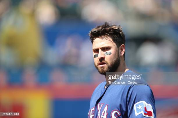 Joey Gallo of the Texas Rangers during the Texas Rangers Vs New York Mets regular season MLB game at Citi Field on August 9 2017 in New York City