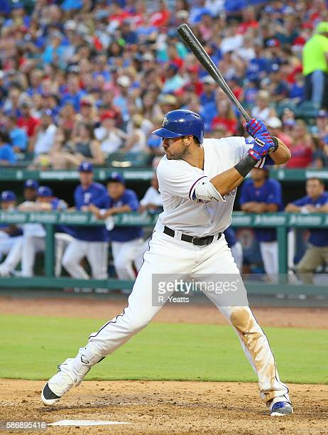 Joey Gallo of the Texas Rangers in the fourth inning against the Kansas City Royalsat Globe Life Park in Arlington on July 29 2016 in Arlington Texas