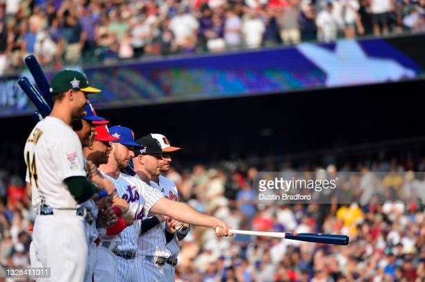Joey Gallo of the Texas Rangers, Juan Soto of the Washington Nationals, Matt Olson of the Oakland Athletics, Pete Alonso of the New York Mets,...