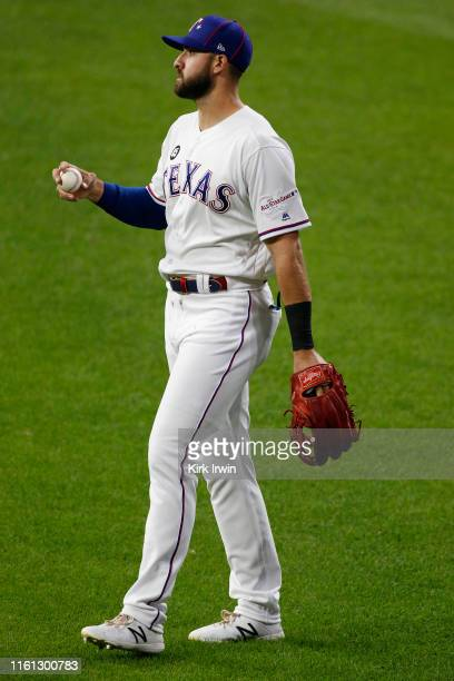 Joey Gallo of the Texas Rangers participates in the 2019 MLB AllStar Game at Progressive Field on July 09 2019 in Cleveland Ohio