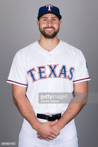 Joey Gallo of the Texas Rangers poses during Photo Day on Wednesday February 21 2018 at Surprise Stadium in Surprise Arizona