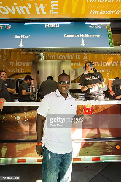 Joey Galloway former Seahawks wide reeiver and ESPN analyst enjoys McDonald's on September 4 2014 in Seattle Washington