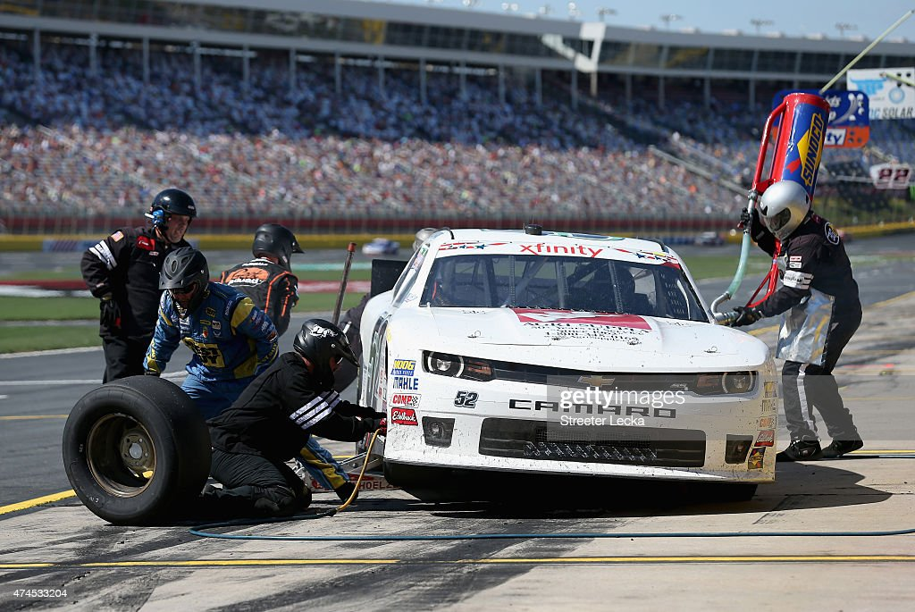 Joey Gase, driver of the Agri Supply Chevrolet, pits during the