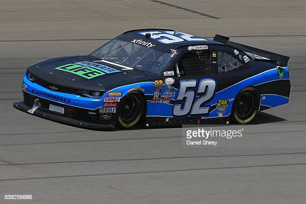 Joey Gase driver of the Chevrolet drives during practice for the NASCAR XFINITY Series Menards 250 at Michigan International Speedway on June 11 2016...