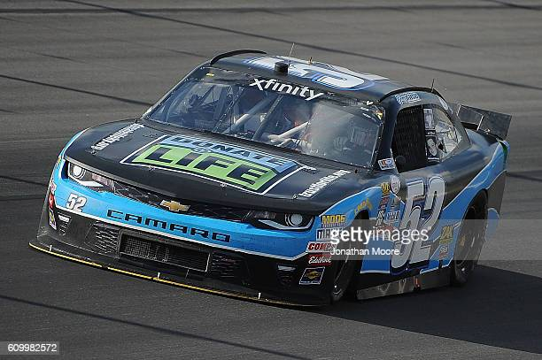 Joey Gase driver of the Chevrolet on track during practice for the NASCAR XFINITY Series VysitMyrtleBeachcom 300 at Kentucky Speedway on September 23...