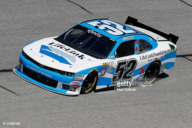 Joey Gase driver of the LifeLinkFoundationorg Chevrolet practices for the NASCAR XFINITY Series Heads Up Georgia 250 at Atlanta Motor Speedway on...
