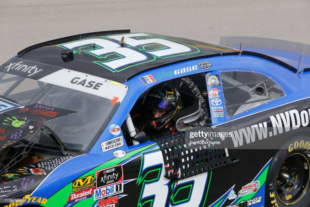 Joey Gase MBM Motorsports Toyota Supra crashes during the NASCAR