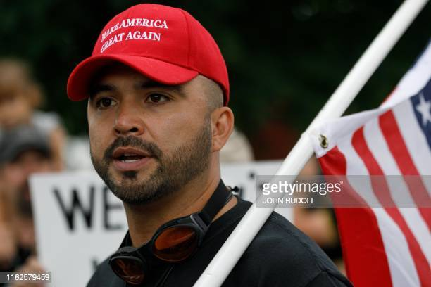 Joey Gibson founder of 'Patriot Prayer' and the person who began the series of rightwing demonstrations in Portland in 2016released from jail over...