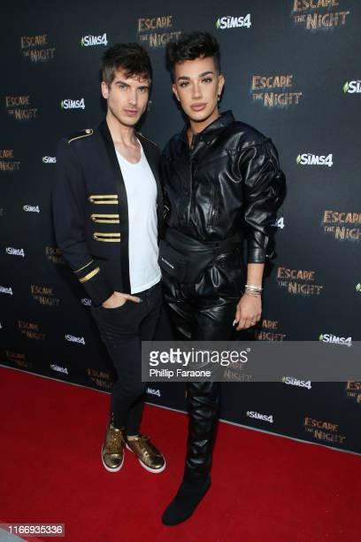 """Joey Graceffa and James Charles attend Joey Graceffa's YouTube Original Series """"Escape The Night"""" VIP Escape Room Experience at UTA on August 08,..."""