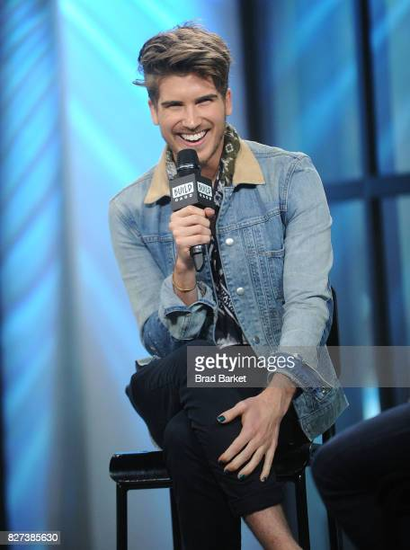 Joey Graceffa attends Build Presents Joey Graceffa discussing his hosting role In the YouTube Red Surreality Competition Series 'Escape The Night' at...