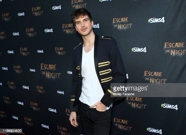 Joey Graceffa attends Joey Graceffa's YouTube Original Series Escape The Night VIP Escape Room Experience at UTA on August 08 2019 in Beverly Hills...