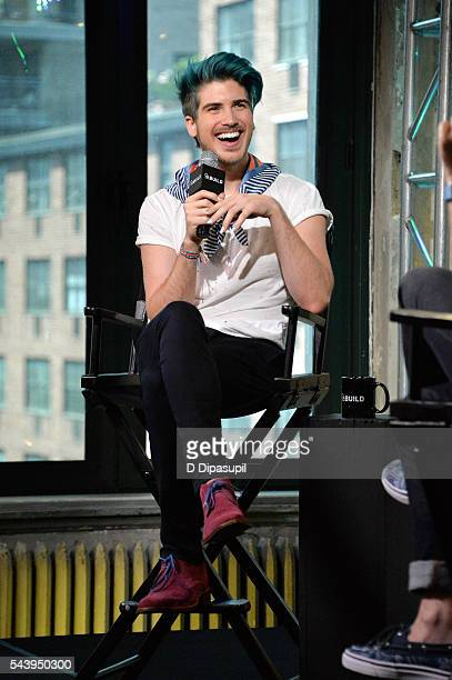Joey Graceffa attends the AOL Build Speaker Series to discuss the new YouTube Red series 'Escape The Night' at AOL Studios In New York on June 30...