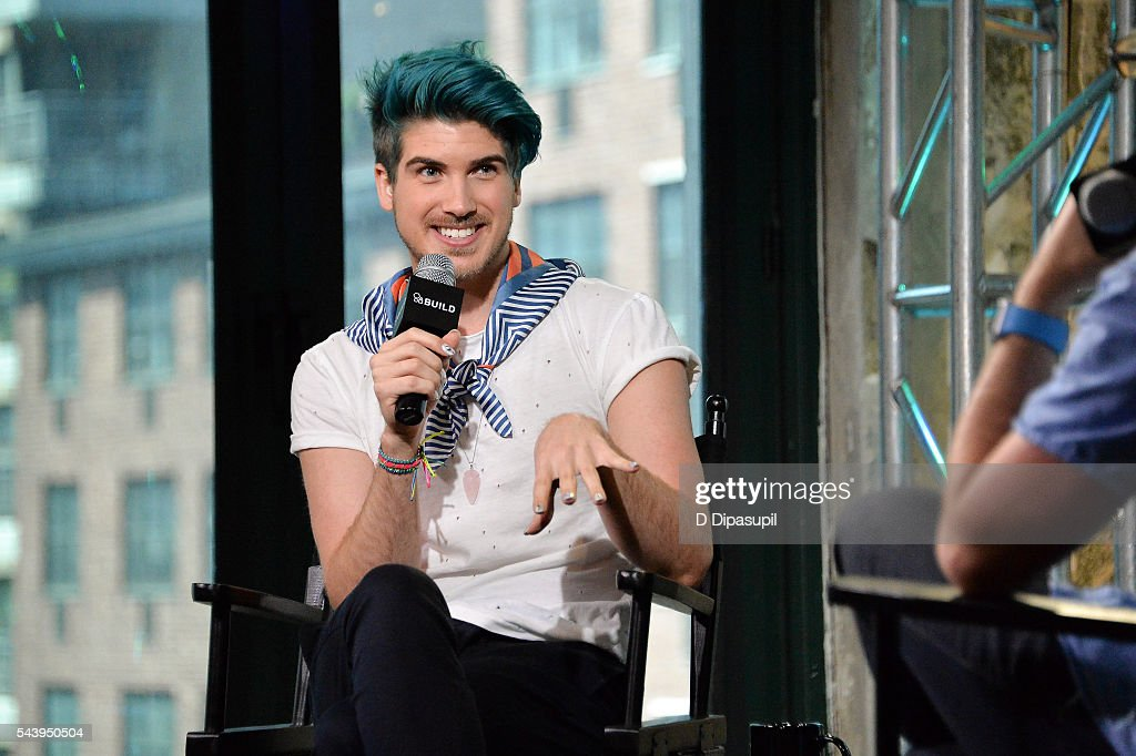 Joey Graceffa attends the AOL Build Speaker Series to discuss the new YouTube Red series 'Escape The Night' at AOL Studios In New York on June 30, 2016 in New York City.
